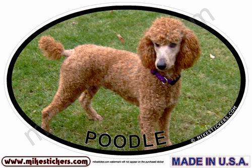 Non Sporting Dog Oval Stickers By Mikestickers Com